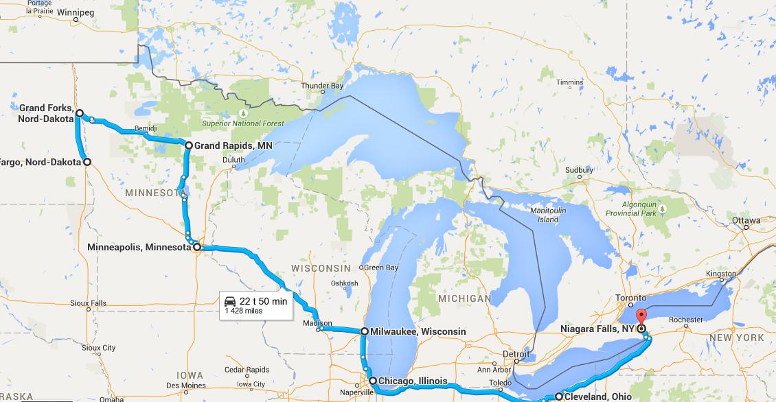 Fargo ND-Niagara Falls ON