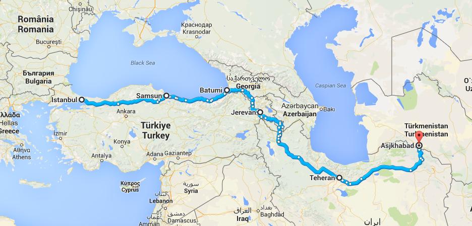 Istanbul-Ashgabad